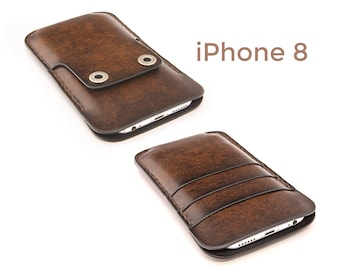 iPhone 8 leather case - iPhone 8 case - iPhone 8 wallet case - iPhone 8 leather cover