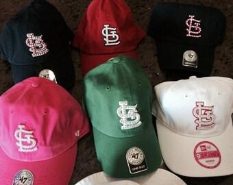 rhinestone swarovski crystal St Louis Cardinals baseball caps