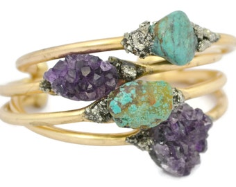 Amethyst Bracelet- Mothers Day Gift- February Birthstone, Amethyst Jewelry, Mom Gift