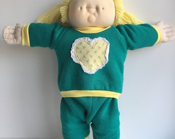 1980s MN Thomas DOLL BABY (Cabbage Patch Kids) Lemon Blond Pigtail Girl Doll