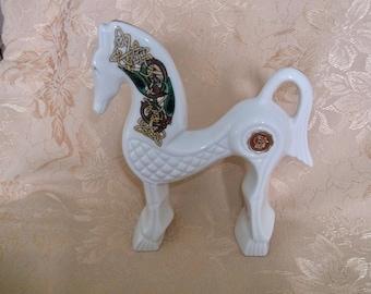 Cre Irish Porcelain Horse Signed Galway Ireland