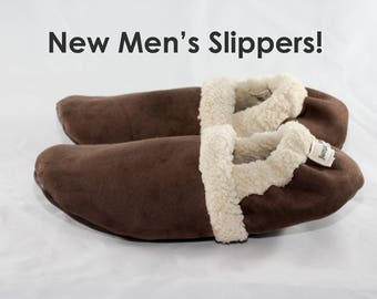 Slippers for men | Gift for him | Gift for men | Warm slippers | Indoor slippers | Travel slippers for him | Men's shoes | Unisex Chocolate
