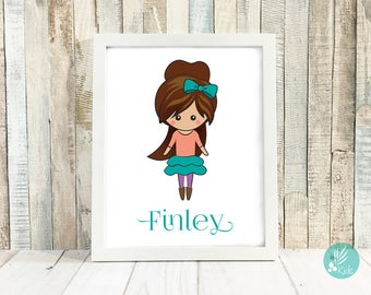 Kids Room Decor, Personalized Name Sign, Personalized Portrait, Personalized Gifts for Kids, Girls Room Decor for Girls Bedroom, Wall Art