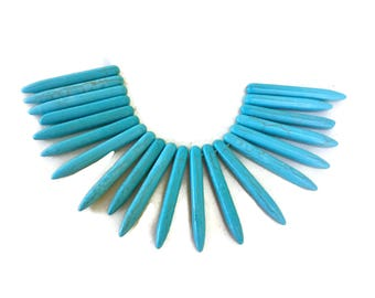 Turquoise Howlite Beads 20 pcs 40mm