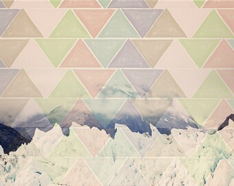 Geometric Alaska Art - 8x10 photograph - Nature Art - fine art print - modern photography - pastel geometric