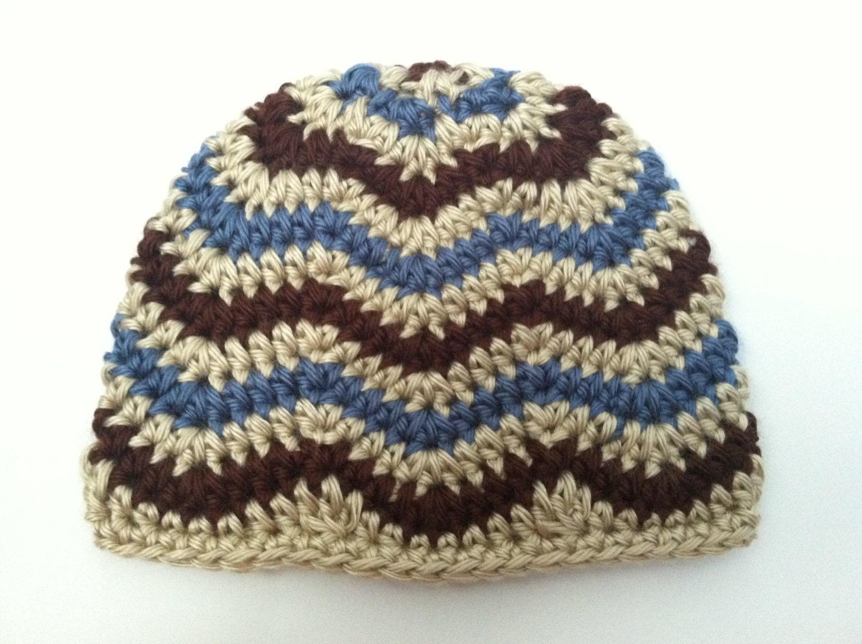 Crochet patterns two chevron hat patterns newborn through zoom baditri Images