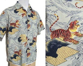 Vintage Tiger Loop Shirt Mens Novelty Animal Print L – by Aerosport International