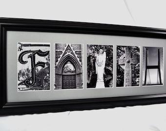 """Framed Letter Art - """"Faith"""" Inspirational"""