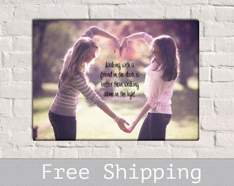 Black Friday Canvas - Best Friend Gift - Bridesmaid Gift - Best Friend Christmas gift - Sister Gift - Maid of Hornor Gift - Custom Canvas