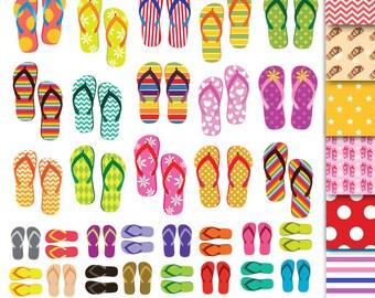 72 Flip Flops Clipart , Flip Flops Clip Art ,Shoes Clipart,Flip Flops Summer Cliparts ,Flip Flops digital scrapbook beach clip art flip flop