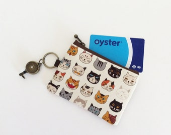 Travel pass case (Cat face)