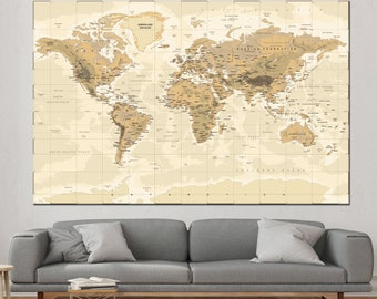 World map canvas etsy world map canvas gumiabroncs Images