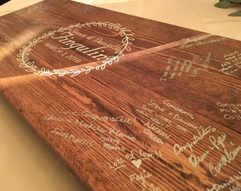 Wooden Guestbook 16x36