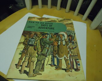 Vintage 1954 Fun To Do Book, Days of Adventure, classmate edition, unworked, collectable, paper