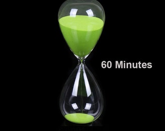 Large Heavy Hourglass Sand Timer 60 Minutes ( Four Color Available )