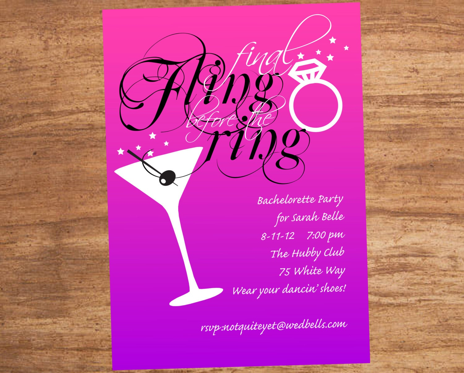 Final Fling Before The Ring Bachelorette Party Custom