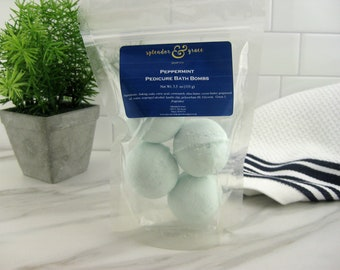 Bath Bombs Bath Melts Bath Fizzy Mini Bath Bomb Gift Set Shea Butter Self Care Skin Care Spa Gift For Her Pamper New Mom Gift Peppermint