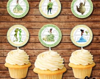 Tiana Birthday Cupcake Topper, Tiana Birthday, Disney Princess Cupcake Topper, Tiana, The Princess and the Frog