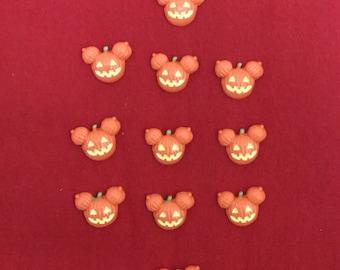 Set of 10 Mickey Mouse Halloween Pumpkin Jack O Lantern Resin