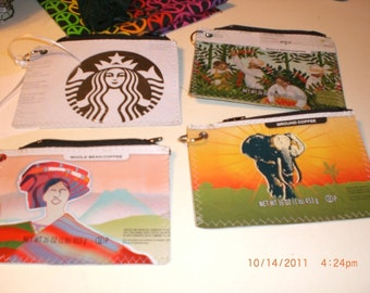 Tutorial - Zippered Pouch made from recycled coffee bags