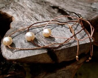 Pearl friendship bracelets