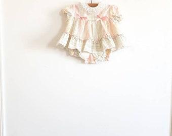 Vintage Pastel Stipes Baby Dress