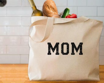 MOM tote bag cute gift for mom mothers day tote bag mom shopping bag gift for mom from kids