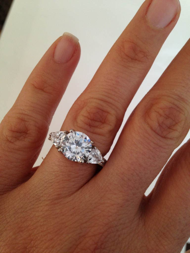 simulant rings size carat halo pin man engagement ring diamond made