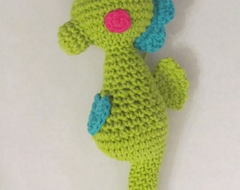 CROCHET PATTERN: Amigurumi Seahorse - stuffed toy - permission to sell finished items - digital download