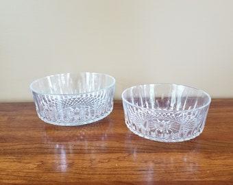 ARCOROC Glass Bowl Vintage Serving Bowl Set Diamant Pattern ARCOROC Fruit Bowl Set Diamond Cut Bowls Vintage French Bowl Glass Serving Bowls