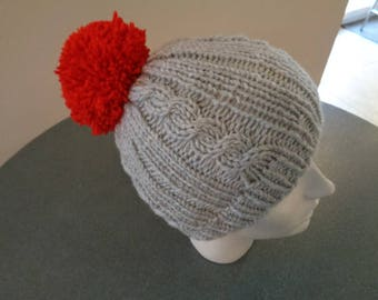 adult Hat mixed acrylic anti pilling twists/Red