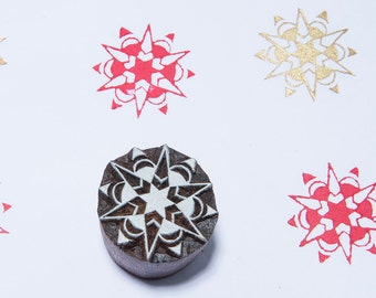 Starburst 155, wood block stamp