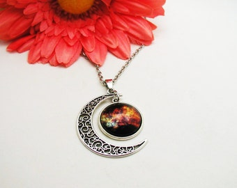 Galaxy Necklace - Colorful Nebula Necklace - Nebula Necklace - Boho Crystal Necklace - Universe Necklace - Space Necklace - Galaxy Jewelry