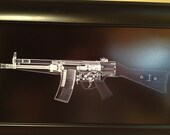 HK 53 rifle CAT scan gun print...