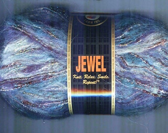 Jewel from Universal Yarn Inc Mohair and Metallic Wrapped Cotton Yarn 82 Yard Skein