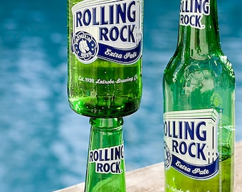 Rolling Rock Beer Bottle Wine Glass