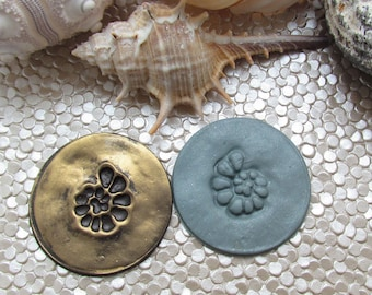 Reverse Ammonite Shell Polymer Clay Stamp