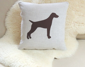 German Shorthaired Pointer Applique Pillow Cover - GSP