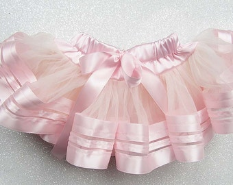 Baby girl, Tutu, pink tutu, pink skirt, ballet pink skirt, ribbon skirt, ribbon tutu, baby girl outfit, cake smash outfit, photo prop fluffy