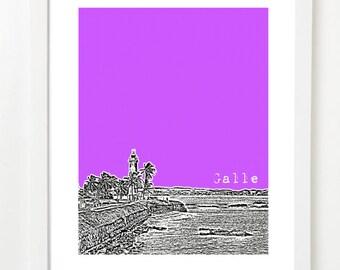 Galle, Sri Lanka Poster - City Skyline Series Art Print - Old Town Galle