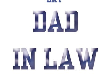 Dad-in-Law Fathers Day Card