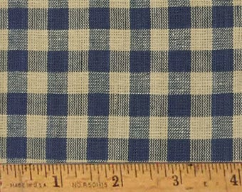 "Heritage Blue 5 Homespun Cotton Fabric (Full Yard 36"" x 44"")"