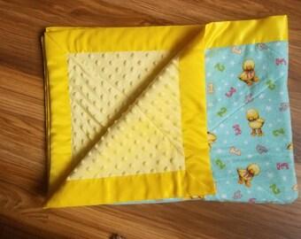 Yellow Duck Minky Blanket