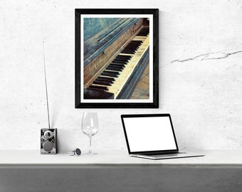 Piano - download, wall art, photography, vintage, antique