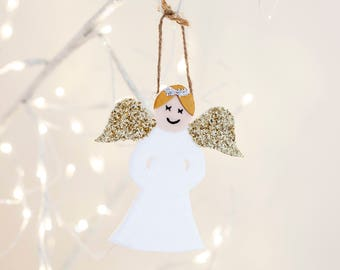 Angel tree topper, Angel decoration, Angel ornament, Christmas Angel, Angel wings, white Angel