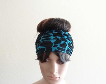 Printed Head Wrap. Headband. Wide Headabnd