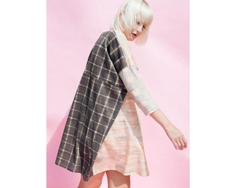 The Getty Marble Artist Patchwork Tee Dress