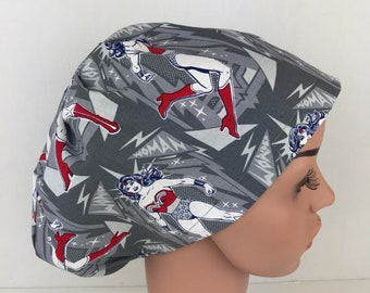 Bouffant Alternative Surgical Scrub Hat Nurse Cap, Scrub Cap, Chemo Cap, Surgical Tech Scrub Hat