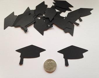 50 Large Black Graduation Cap Die Cuts, Graduation Cap Cut Out, Graduation Confetti, Graduation Scrapbook, Graduation Party