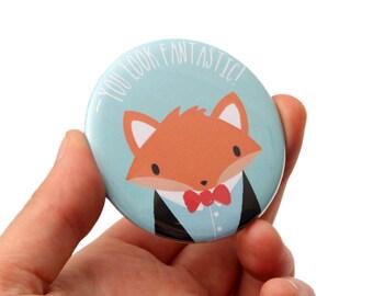 Secret Santa Gift - Fox Pocket Mirror - Stocking Filler Gift Idea - Stocking Stuffer